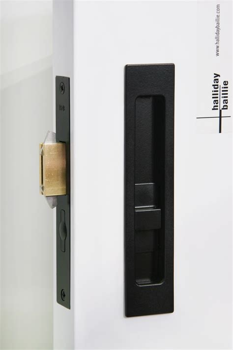 sliding door hardware hb  privacy lock halliday baillie handb