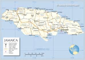 Administrative Map of Jamaica - Nations Online Project Jamaica