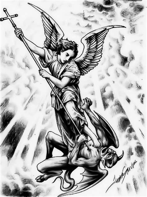 Pin by Black Rosary Art Company on KINTOZ | BRAC | REFRENCES | Archangel tattoo, Archangel