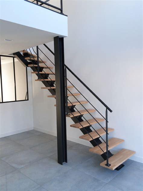 escalier m 233 tal et garde corps mezzanine avec verre
