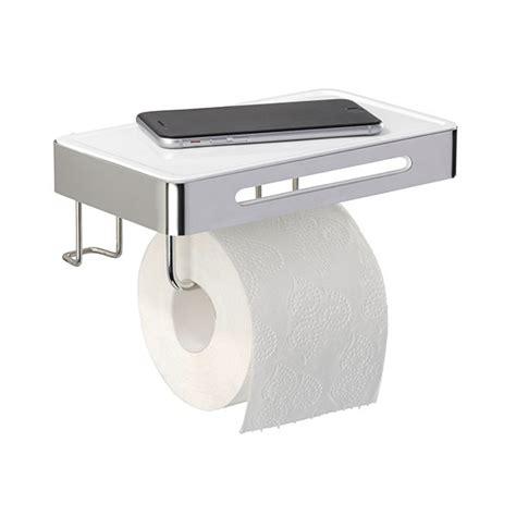 derouleur de cuisine 3 en 1 dérouleur de papier wc en inox avec tablette aménagement