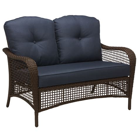 grand harbor prairie hill loveseat blue outdoor living