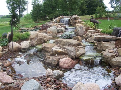 backyard waterfall pond the best front yard landscaping with stones for your house