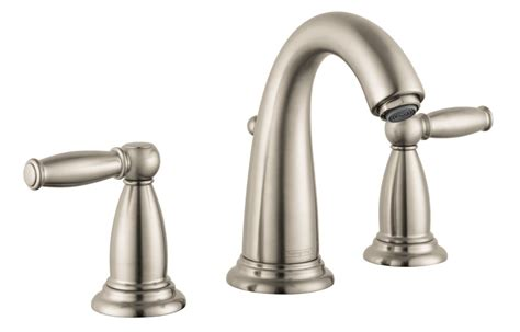 hansgrohe bathroom faucet faucet 06117820 in brushed nickel by hansgrohe