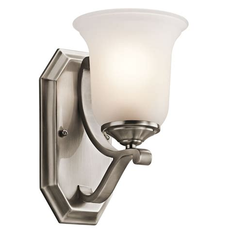 kichler 45401clp classic pewter 1 light wall sconce from