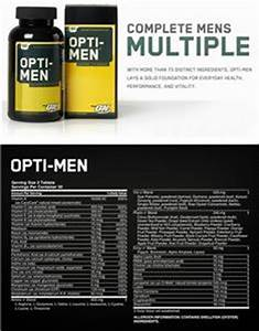 Opti-Mens Complete Mens Multiple 180 Tablets - Closeout ...
