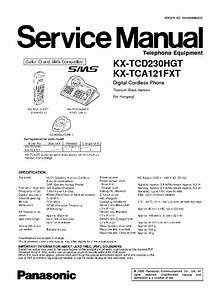 Panasonic Kx-tcd230hg Free Download Schematic Diagram And Service Manual