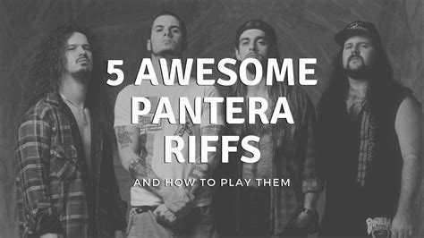 5 AWESOME Pantera Guitar Riffs and how to play them ...