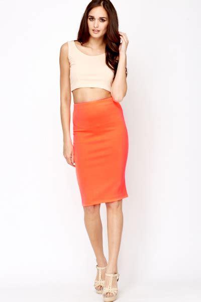 Orange Pencil Skirt | Fashion Skirts
