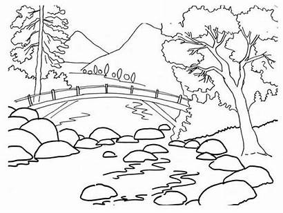 Landscape Clipart Cliparts Drawing Clip Library Coloring