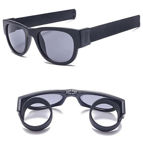 kacamata polarized bisa dilipat ujungnya untuk menghalau sinar matahari agar tak mengenai mata
