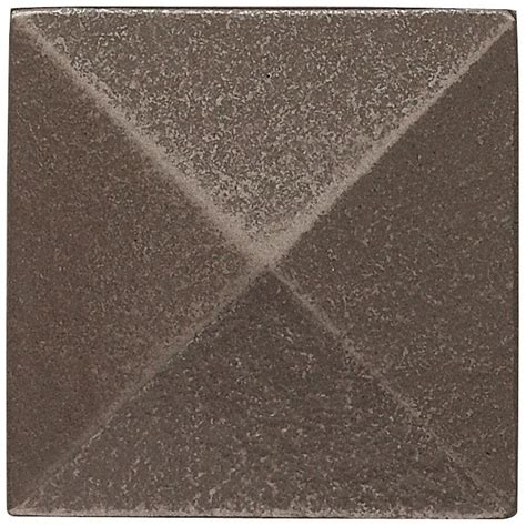 weybridge 2 in x 2 in cast metal pyramid dot brushed