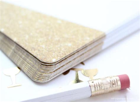 faux gold glitter invitation inklings paperie