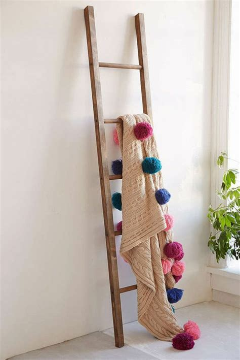 shabby to chic blanket ladder shabby wooden blanket ladder home decorating trends homedit