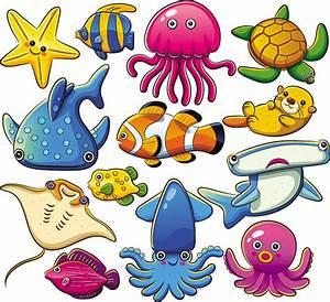Cartoon Marine Animals Free Vector Graphic Download