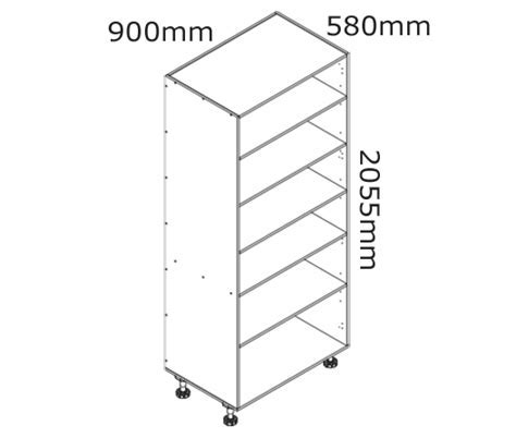 900mm Pantry Cabinet   kaboodle kitchen
