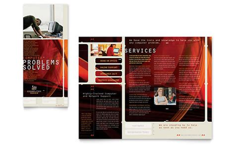 Software Solutions Tri Fold Brochure Template Word Software Solutions Tri Fold Brochure Template Word