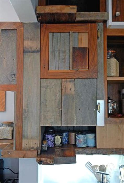 reclaimed barn wood kitchen cabinets salvaged kitchen cabinets insteading 7651