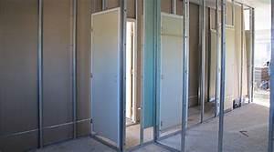 Pose De Placo Sur Rail : fixation wc suspendu placo coffrage pour wc suspendu l x ~ Carolinahurricanesstore.com Idées de Décoration