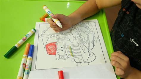 Книга раскраска Тачки с фломастерами Crayola YouTube