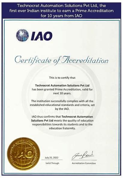 Certificate Training Demo Plc Iao Chennai Courses