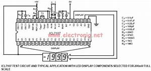 Circuits Apmilifier  Icl7106 And Icl7106 Based Digital Voltmeter Circuit