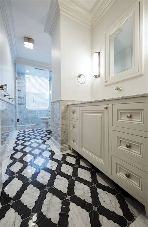 Moorish Tile Floor   Contemporary   bathroom   The