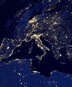 Satellite images of Earth, city lights at night | Videos ...