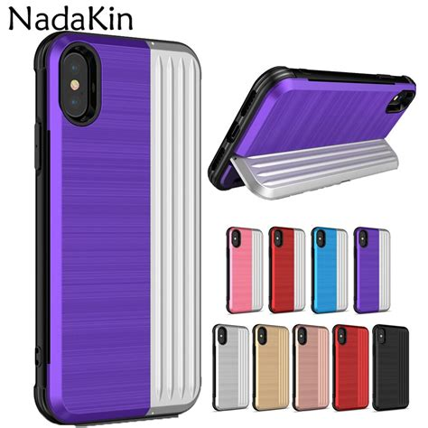This case holds my drivers license and a credit card. Credit Card Slot Holder Phone Case for iPhone 6 6S 7 8 Plus X XS MAX XR Shockproof Armor Back ...