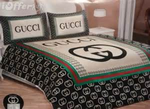 gucci 6pcs authentic luxury bed set satin made in italy king size