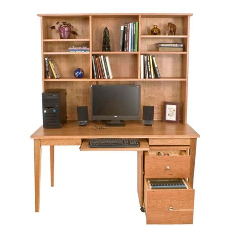 all wood desk with hutch wooden writing desk bookcase in natural solid cherry