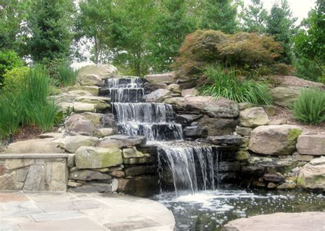 waterfall feature designs water features sisson landscapes