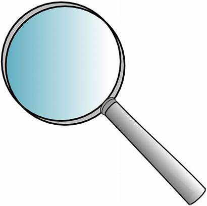 Magnifying Glass Looking Clues Through Inspector Reasonably
