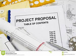 Project Proposal Stock Photo  Image Of Blueprint  Project