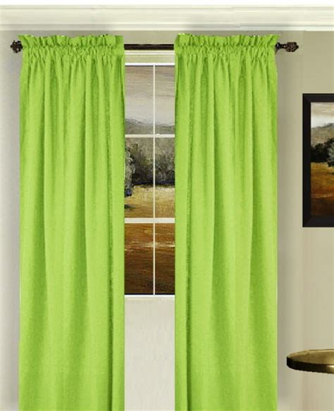 solid lime green colored window curtain available in