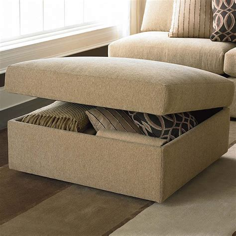 chair with storage ottoman storage ottoman living room bassett furniture