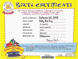 kitty kitty bo bitty okasaneko chronicles With build a bear birth certificate template