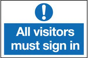 Sign All Visitors Must Sign In