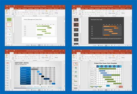 gantt chart project management powerpoint templates