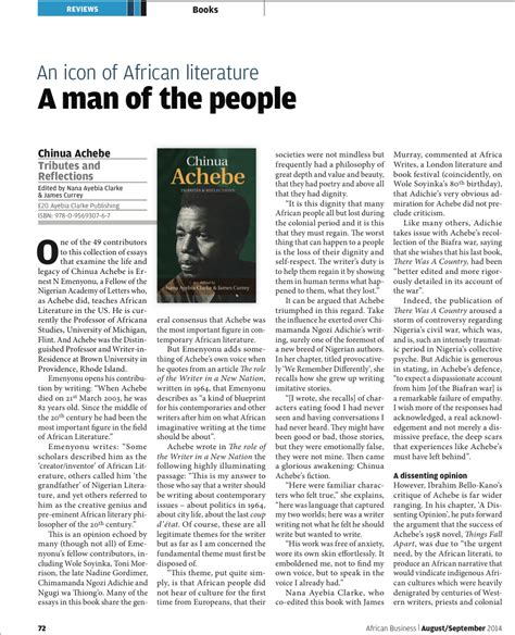 an image of africa achebe essay
