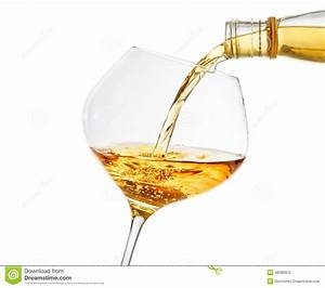 Pouring White Wine Into A Glass With Space For Text Stock ...