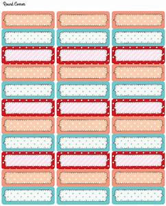 free printable tags and labels with cute polka dots With cute mailing labels