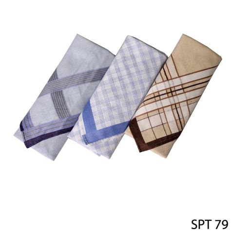 sapu tangan 3pcs katun multi color spt 79 gudang fashion