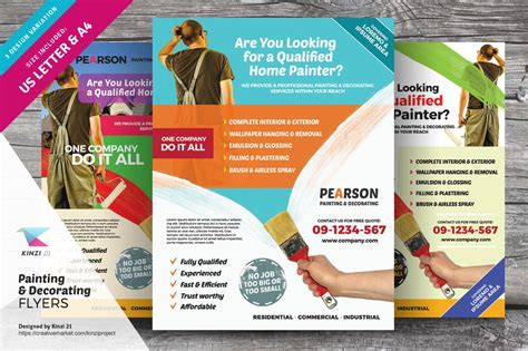 painting decorating flyers flyer templates creative
