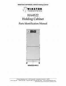 Ha4522 Holding Cabinet Parts Identification Manual Winston