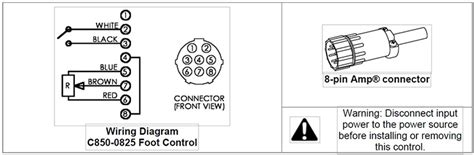 8 Pin Connector Wiring Diagram by Ssc Remote Foot Pedal For Thermal Arc Esab Tig Welders