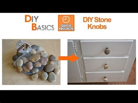 DIY Stone Knobs for cabinet doors or drawers   DIY Basics