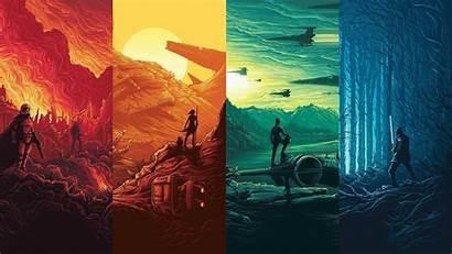 Wars Star Episode Force Collage Awakens Vii