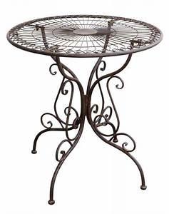 Gartentisch Metall Antik : gartentisch nostalgie antik stil gartenm bel metall tisch metall braun aubaho ~ Watch28wear.com Haus und Dekorationen