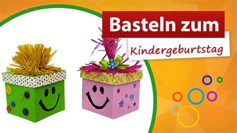 basteln zum kindergeburtstag trendmarkt bastelshop youtube
